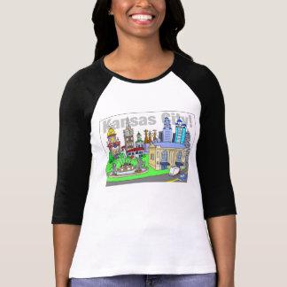 Kansas City Women's 3/4-sleeve T Shirt