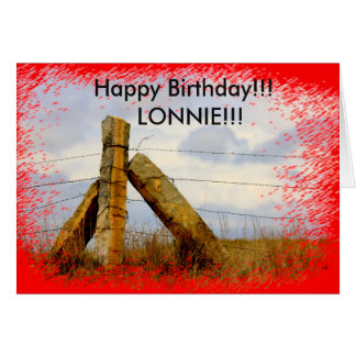 Kansas Country Corner Limestone Post Birthday Card