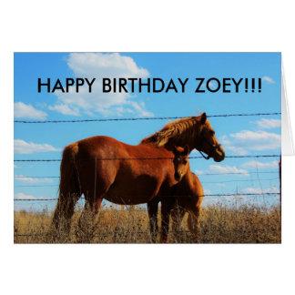 Kansas Country Horses Birthyday Card