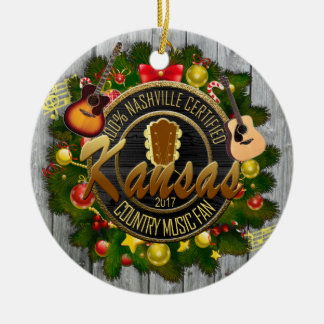 Kansas Country Music Fan Christmas Ornament