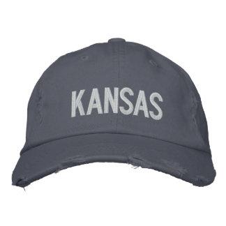 KANSAS Distressed Chino Twill Cap Baseball Cap