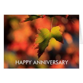Kansas Fall Leave's Anniversary CARD