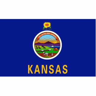 Kansas Flag Magnet Cut Out