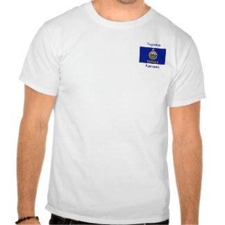 Kansas Flag Map City T-Shirt