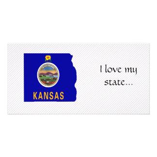 Kansas Flag Map Photo Cards