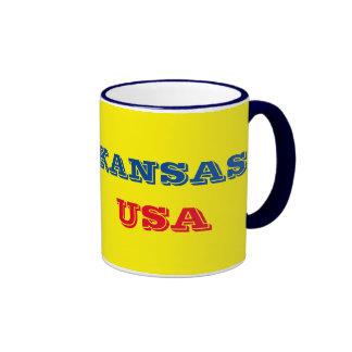 Kansas Flag Mug  Tasse de drapeau du Kansas Ringer Mug