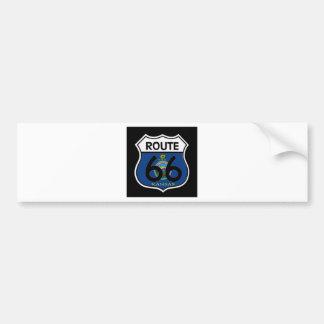 Kansas Flag Route 66 Shield Bumper Stickers