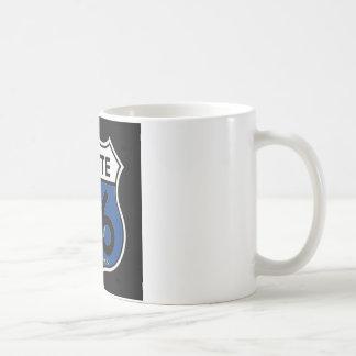 Kansas Flag Route 66 Shield Coffee Mug