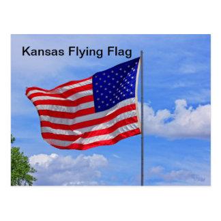 Kansas Flying Flag POST CARD