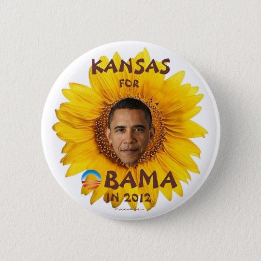 KANSAS for Barack Obama in 2012 political pinback  6 Cm Round Badge