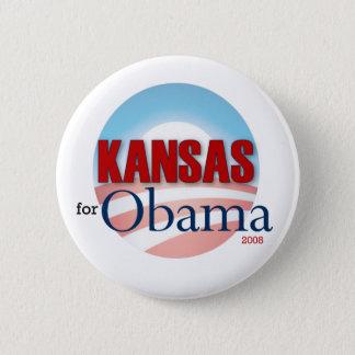 Kansas for Obama 6 Cm Round Badge