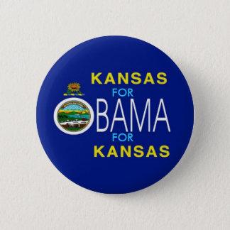 KANSAS FOR OBAMA Button