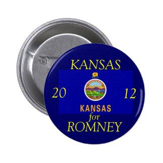 Kansas for Romney 2012 6 Cm Round Badge