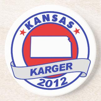 Kansas Fred Karger Drink Coasters