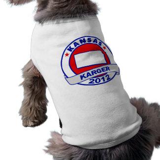 Kansas Fred Karger Dog Tee Shirt