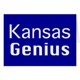 Kansas Genius Gifts Greeting Card