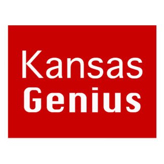 Kansas Genius Gifts Postcard