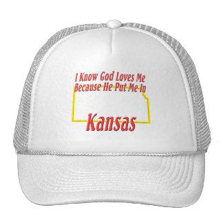 Kansas - God Loves Me Cap