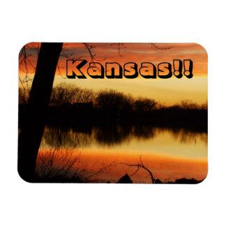 Kansas Golden Sunset Reflection Magnet!! Magnet