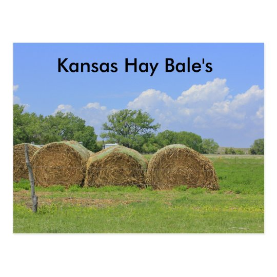 Kansas Hay Bale's Post Card