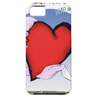 kansas head heart, tony fernandes iPhone 5 case