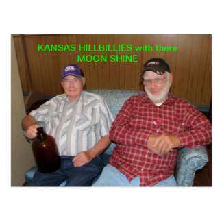 Kansas Hillbillies with there Moon Shine POST CARD