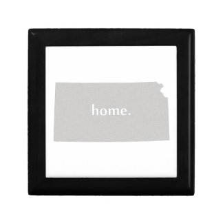 Kansas home silhouette state map gift box