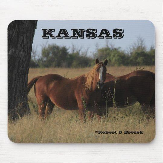 Kansas Horses Mouse Pad!! Mouse Mat