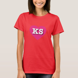 Kansas Hot Pink Heart - Big Love T-Shirt