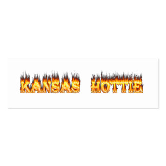 Kansas Hottie fire and flames Business Card Templates