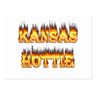 Kansas Hottie fire and flames Pack Of Chubby Business Cards