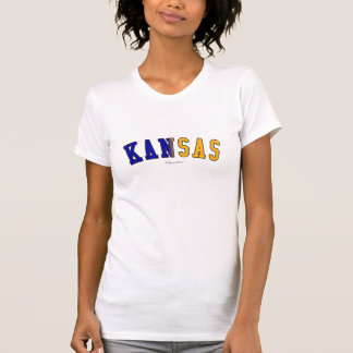 Kansas in state flag colors T-Shirt