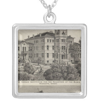 Kansas Institute for Education of the Blind Silver Plated Necklace