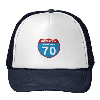 Kansas Interstate 70 Mesh Hats