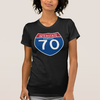 Kansas KS I-70 Interstate Highway Shield - T-Shirt