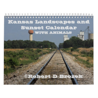 Kansas Landscapes and Sunset Calendar with Animals