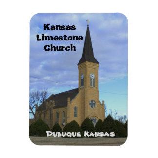 Kansas Limestone Church Square Magnet
