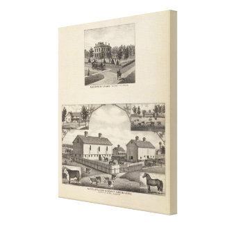 Kansas Live Stock County in Cawker City Stretched Canvas Prints