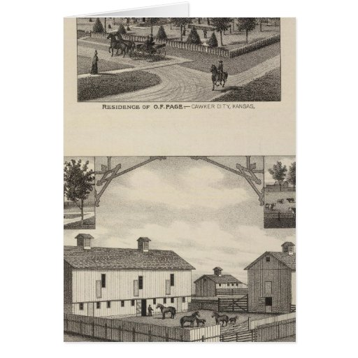 Kansas Live Stock County in Cawker City Greeting Card