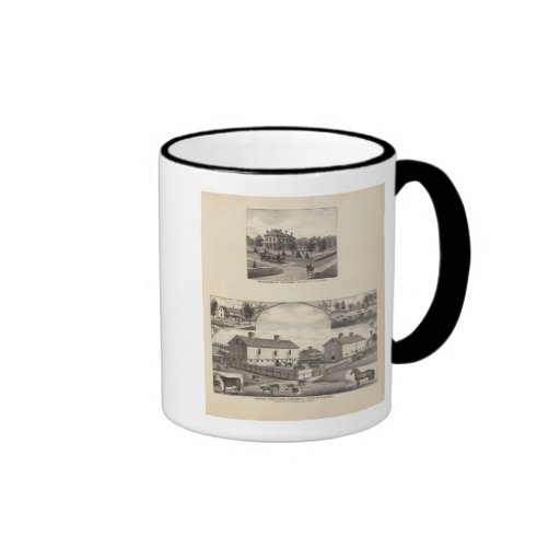 Kansas Live Stock County in Cawker City Coffee Mugs