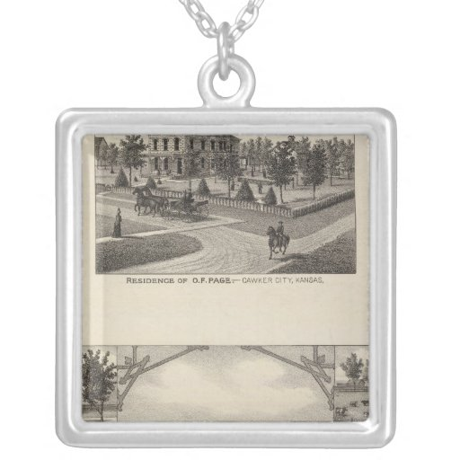 Kansas Live Stock County in Cawker City Pendant