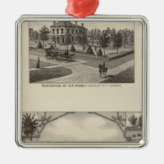 Kansas Live Stock County in Cawker City Silver-Colored Square Decoration