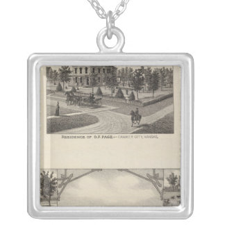 Kansas Live Stock County in Cawker City Silver Plated Necklace