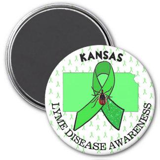 Kansas Lyme Disease Awareness Magnet