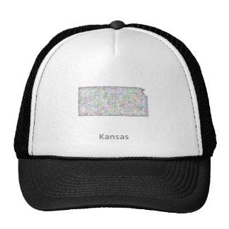 Kansas map cap