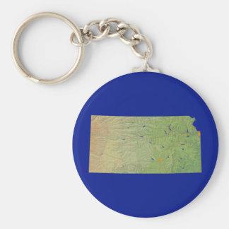 Kansas Map Keychain