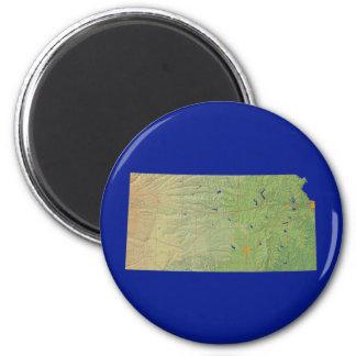 Kansas Map Magnet