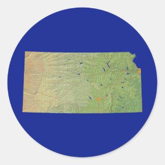 Kansas Map Sticker