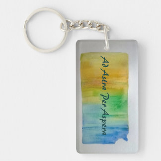 KANSAS MOTTO Key Chain, Ad Astra Per Aspera Key Ring