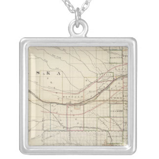 Kansas, Nebraska 2 Silver Plated Necklace